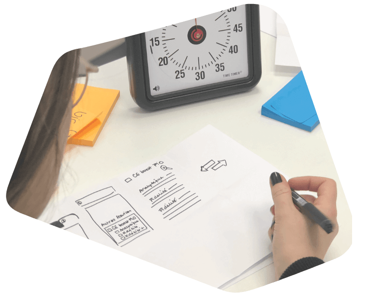 User Interface and UX design based on the data obtained during the audit will create a mind map, paper prototype, microframing, etc..
