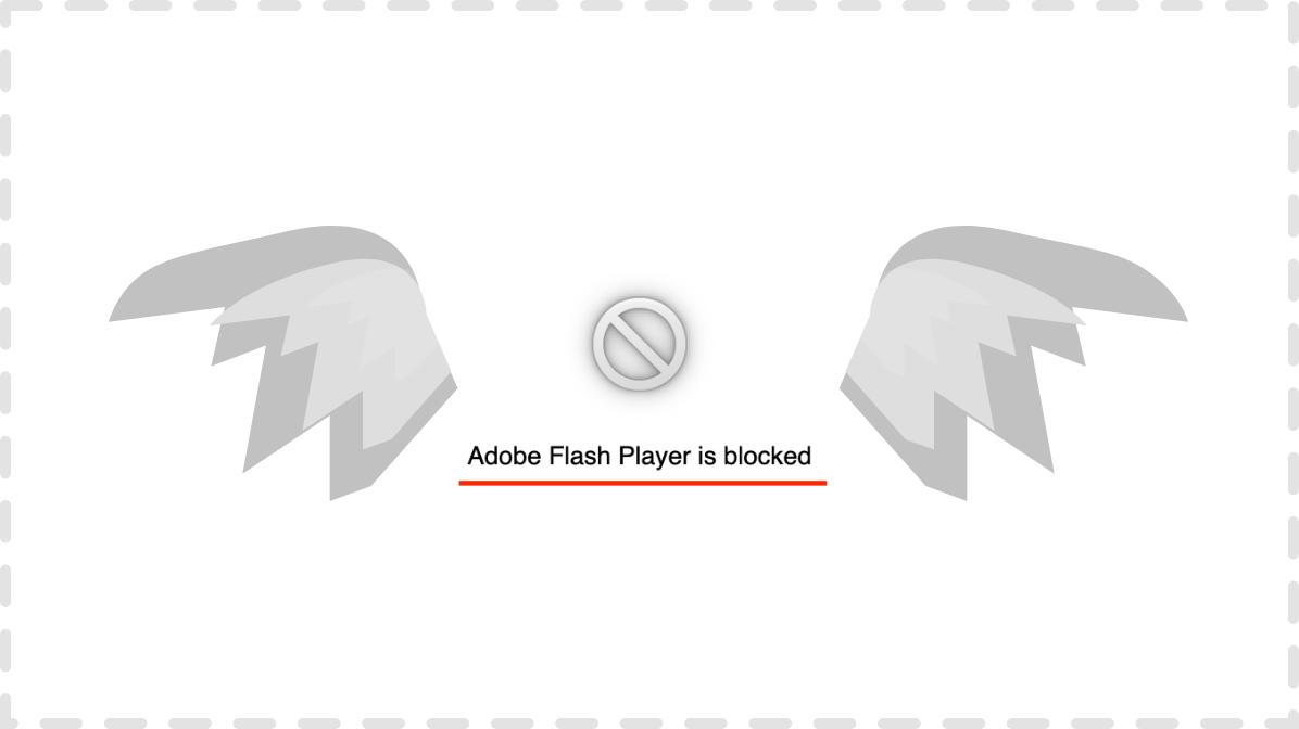 RIP website on adobe flash